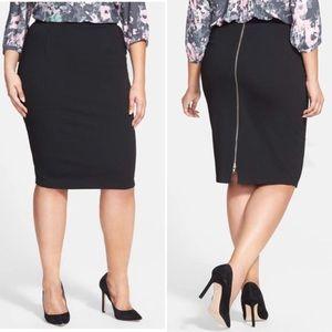 City Chic black zipper skirt
